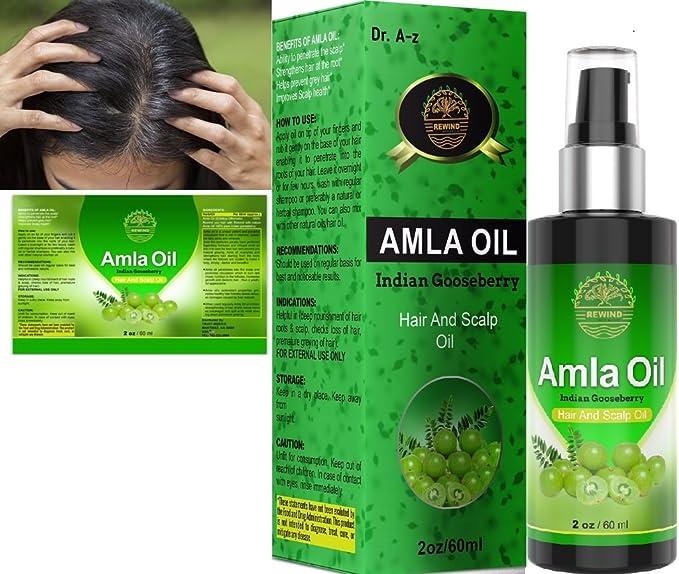 Amla Oil - Aceite para cabello y cuero cabelludo orgánico esencial ...