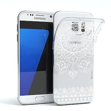 HULI Design Case Hülle für Samsung Galaxy S7 Smartphone im Orientalischen Muster weiß: Amazon.es: Electrónica