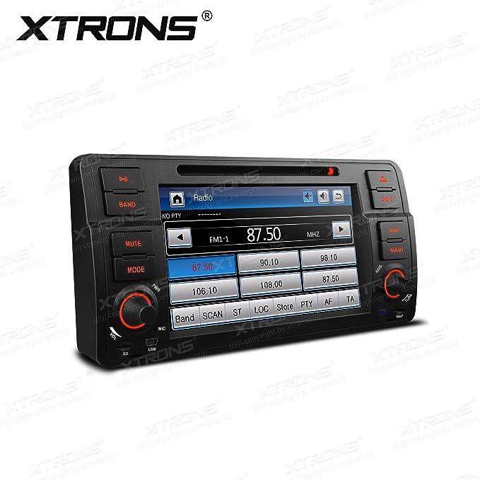 XTRONS - Reproductor de DVD con Pantalla táctil Digital HD de 7 Pulgadas para Coche con