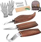 Träsnideri verktyg snideri kit träsnideri knivuppsättning, snideri krok kniv, vispkniv, chipsnidad knivslipare…
