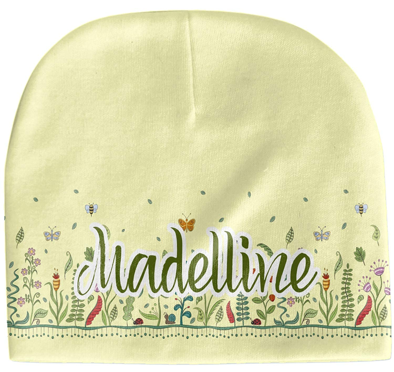 Yellow Personalized Beanie Nature Inspired Baby Hat
