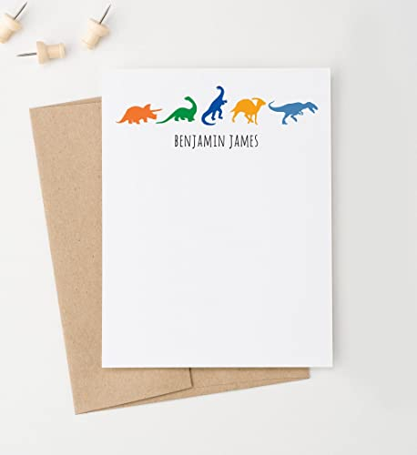 dinosaur personalized note cards for boys boys personalized stationery dinosaur thank you card - Personalized Stationery Cards