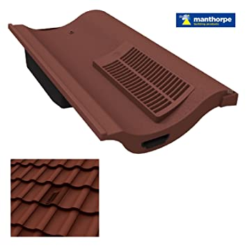 Antique Red Single Pantile Roof Tile Vent / Marley Anglia, Redland Fenland  U0026 Sandtoft