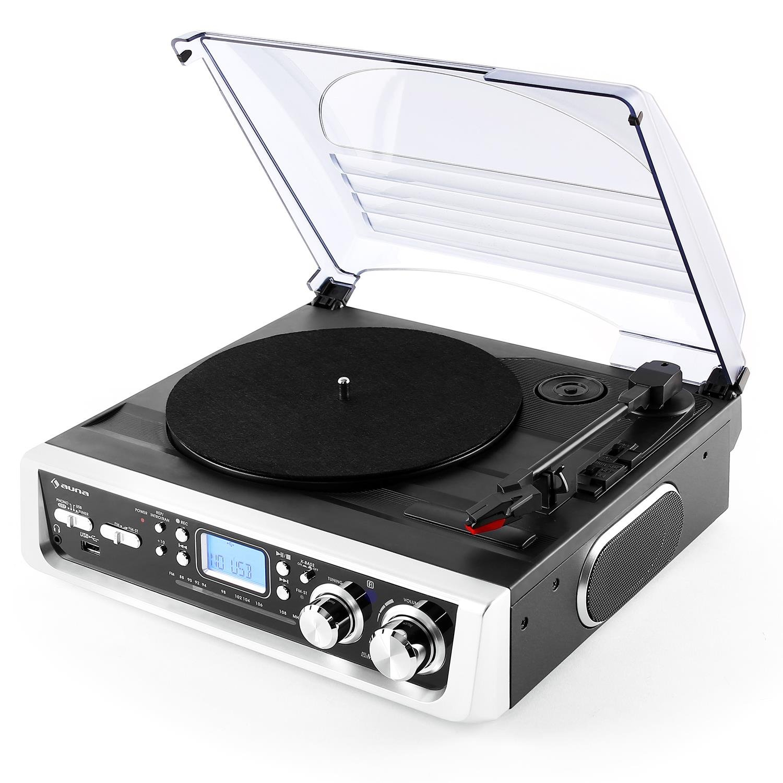 Auna TT-186E - Tocadiscos con USB, SD, MP3, WMA, salida RCA ...