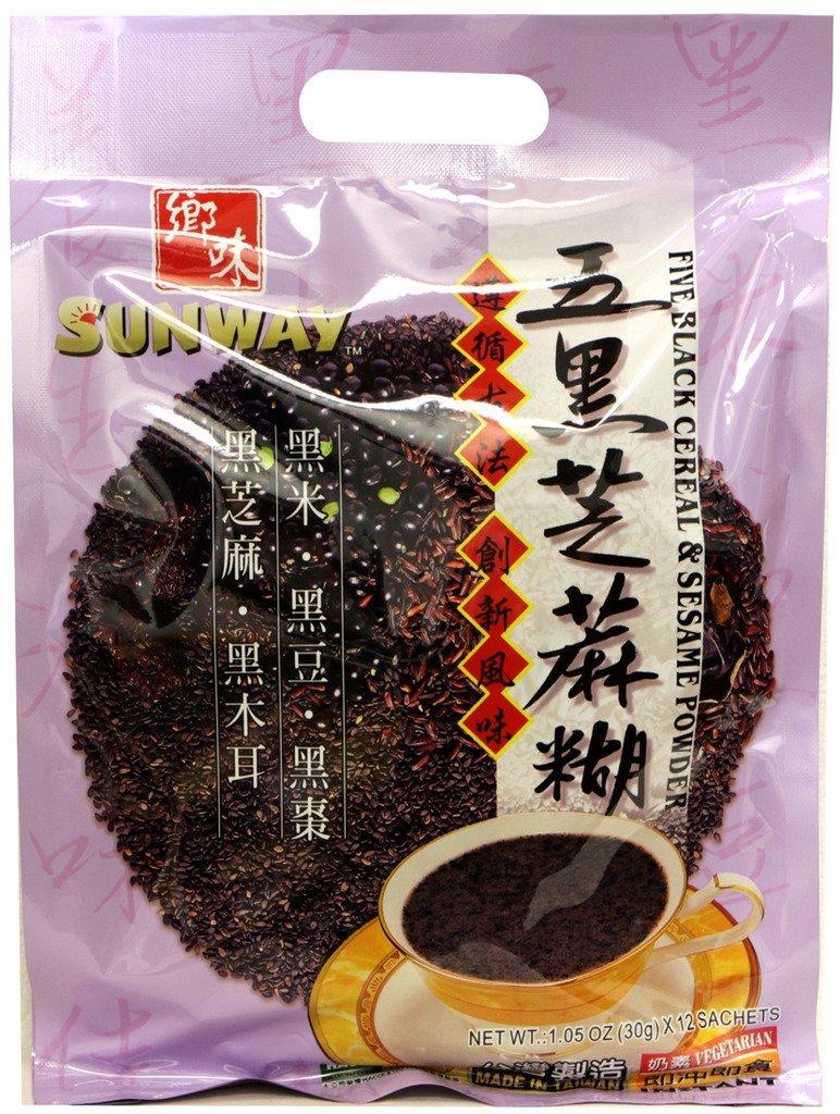 Sunway Five Black Cereal & Sesame Powder 12.6oz x 2pack