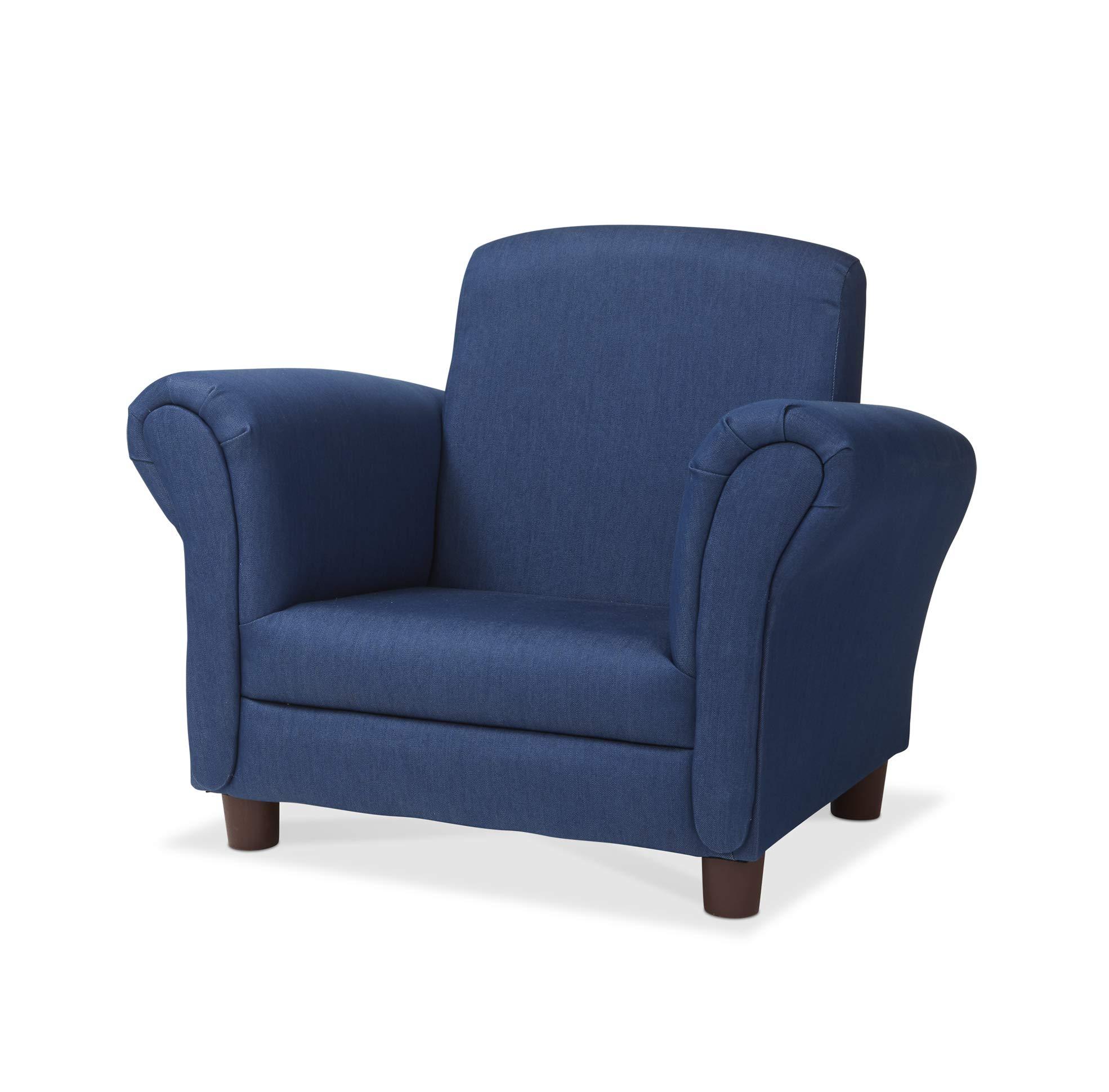 Melissa & Doug Child's Armchair - Denim Children's Furniture - Amazon Exclusive