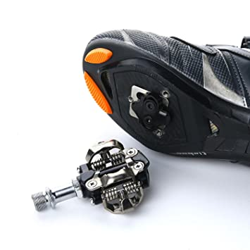 d13e396f5030d spd pedal, KOBWA SPD Cleats Pedals, Suitable for SHIMANO SPD Series Locking  Shoes, Mountain Bike Locking Steps, Etc.