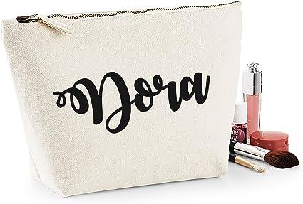 Dora nombre personalizado lona de algodón bolsa de accesorios de ...