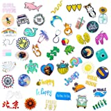 Hrayipt Vsco Stickers Water Bottle Stickers Aesthetic Vinyl Waterproof Cute Luggage Blue Sticker Pack for Girls Teens Kids