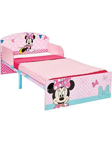 Disney Hello Home Cama Infantil con diseño de Minnie Mouse, Madera, Rosa, 42.50