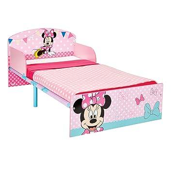 Disney Hello Home Cama Infantil con diseño de Minnie Mouse, Madera, Rosa, 42.50x77.00x143.00 cm: Amazon.es: Hogar