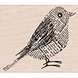 Hero Arts Rubber Stamps Mounted 2,75 x 3,25 cm, colore: carta da giornale, per uccelli