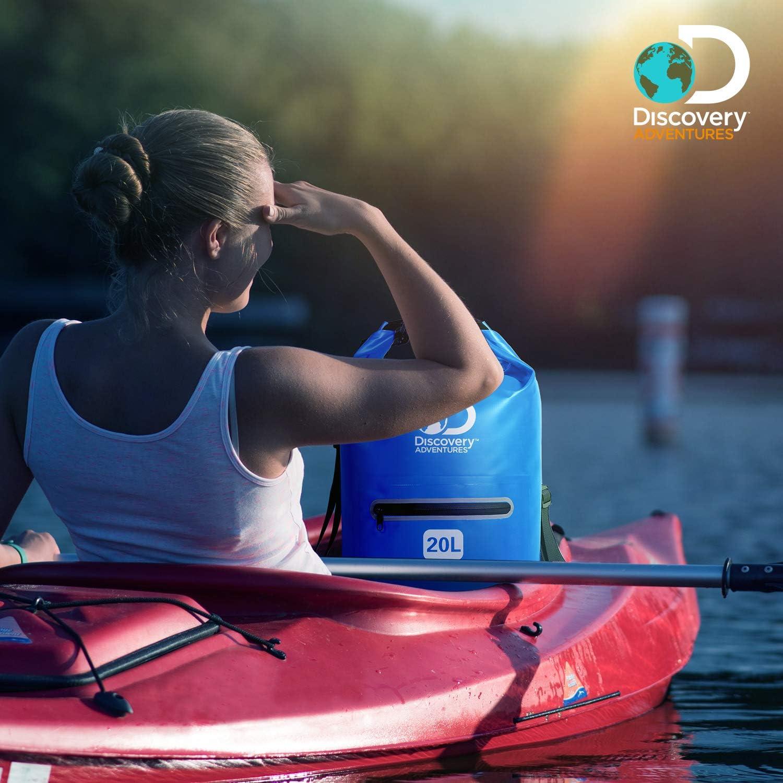 p/êche Rafting Natation Camping Discovery Adventures Sac /étanche /étanche 10 L 20 L 600D avec Longue bandouli/ère r/églable pour Kayak cano/ë