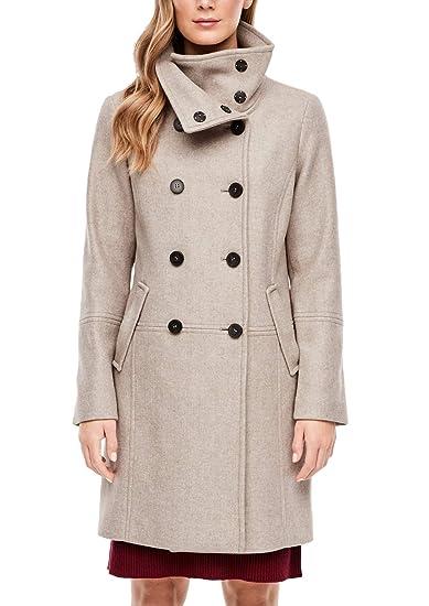 s.Oliver RED Label Damen Zweireiher Mantel in Woll Optik