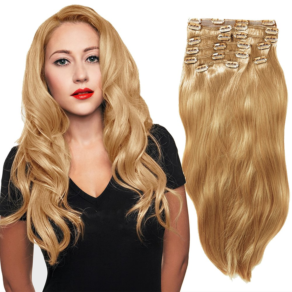 Clip In Sets 10Pcs Clip In Human Hair Extensions Natural Colour 1B# Remy Human Hair Straight For Full Head 20Inch 200G Weight YONNA
