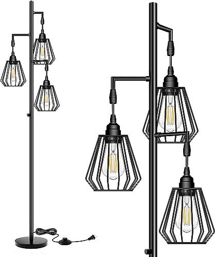 QiMH Dimmable Teardrop LED Industrial Floor Lamp