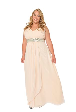 Astrapahl, Evening dress, cocktail dress, plus size, color apricot, size 36