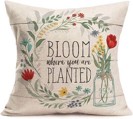 com aremetop floral quotes decorative pillow covers fresh