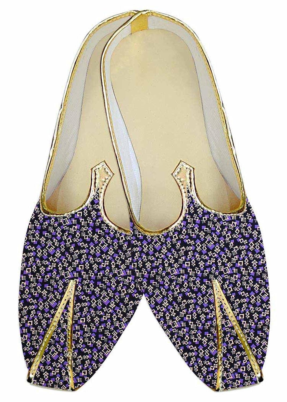 INMONARCH Hombres Boda Zapatos Impresas EN Negro Cuadrado Múltiple MJ014441 43 EU