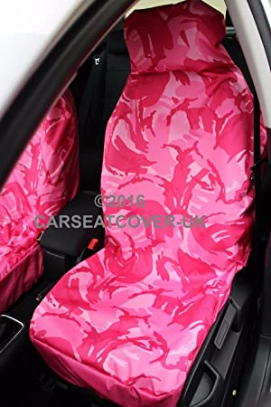Aixam 500 - GIRLY PINK Camouflage Waterproof Car Seat Covers - 2 x ...