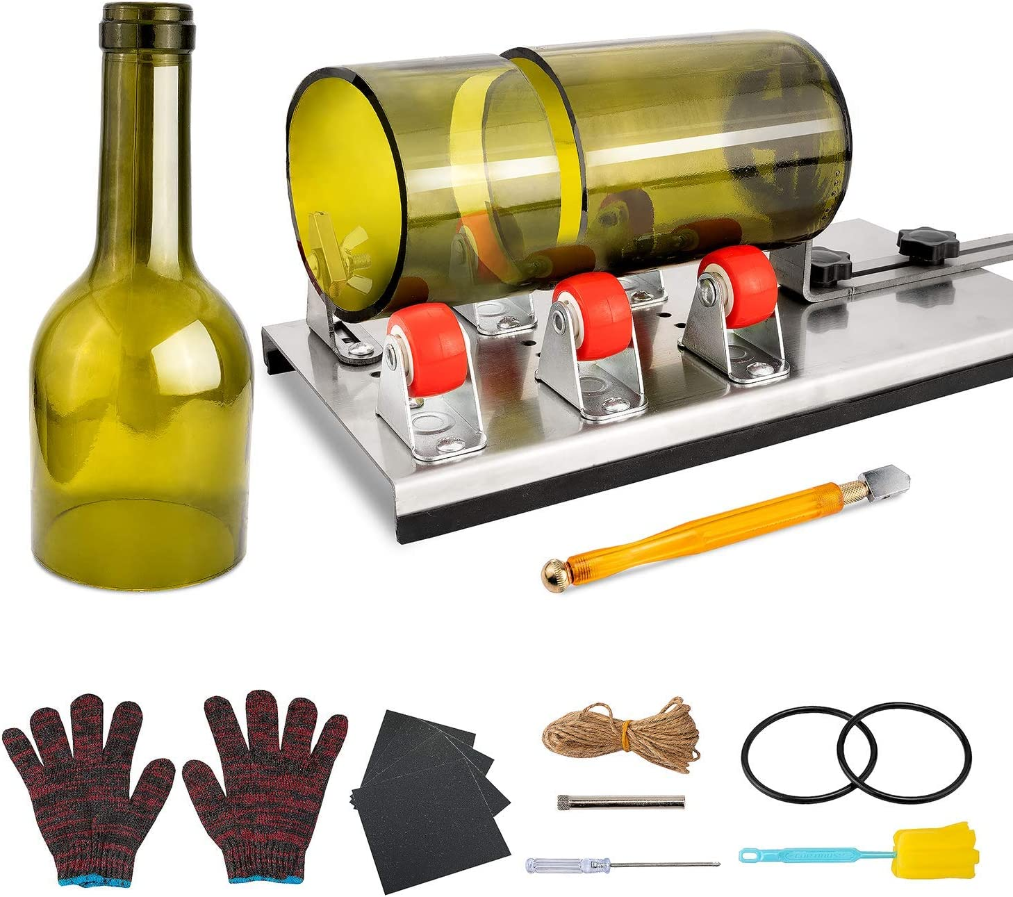 Precise Wine Beer Glass Bottle Cutting Tool Recycle Kit DIY Craft Cutter Machine