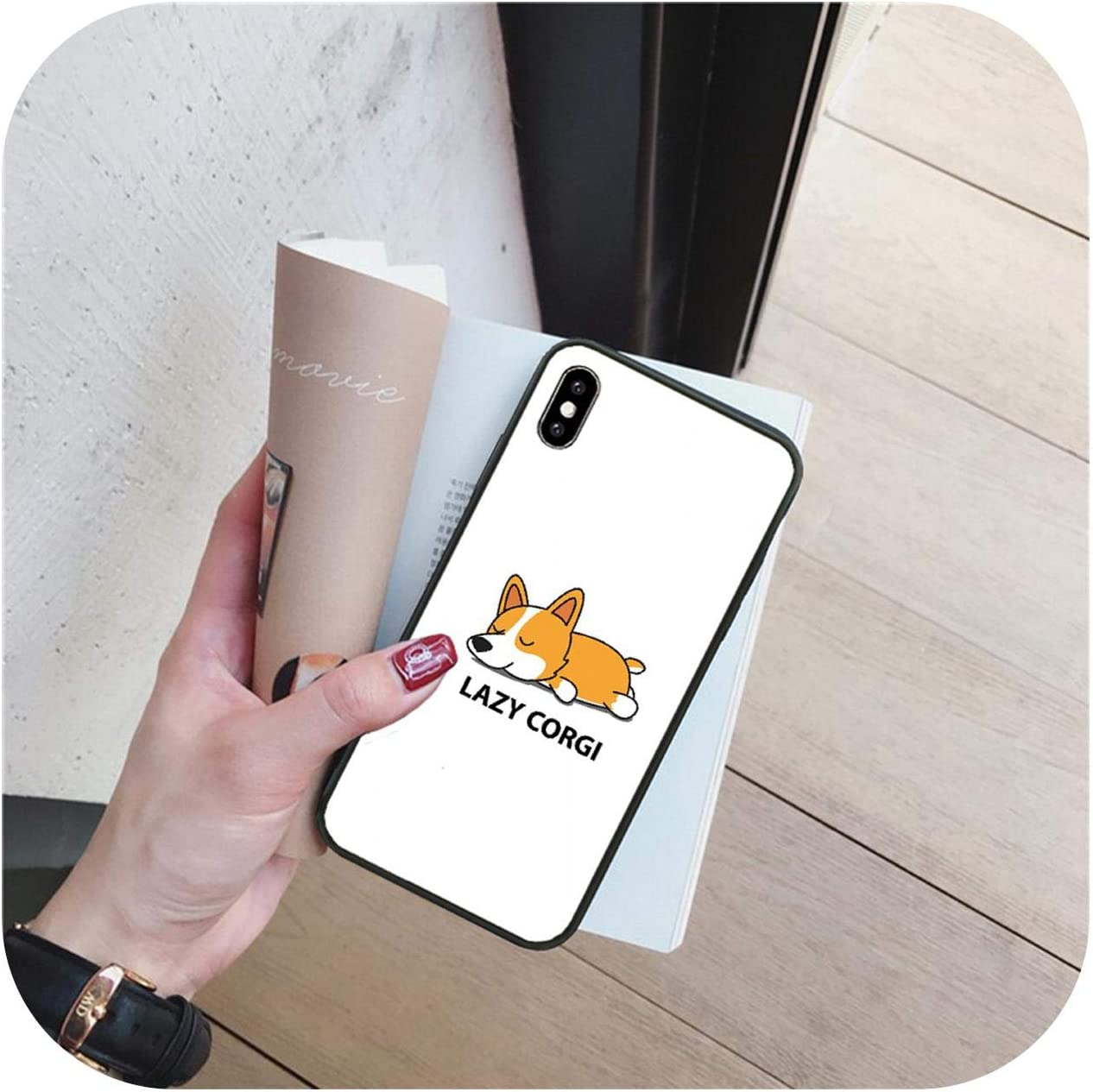 Cartoon Cute Corgi Dog Bling Cute Phone Case for iPhone 11 pro XS MAX 8 7 6 6S Plus X 5 5S SE XR cover-a7-For iPhone 7 or 8