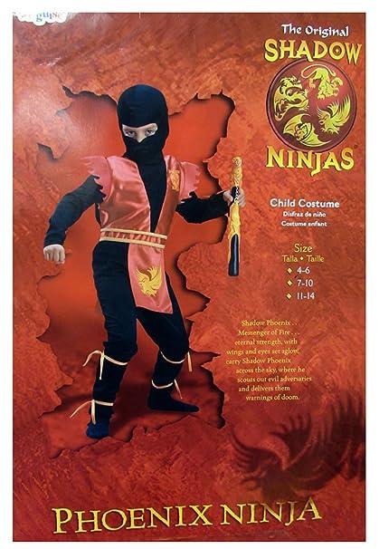 Amazon.com: Shadow Phoenix Ninja Niño Disfraz: Toys & Games