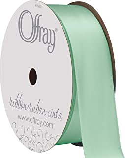 "product image for Berwick Offray 068472 7/8"" Wide Single Face Satin Ribbon, Aqua Blue, 6 Yds"