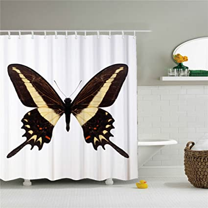 Waterproof Mouldproof Butterfly Blessings Shower Curtain For Bathroom Decoration 66x72 Inch