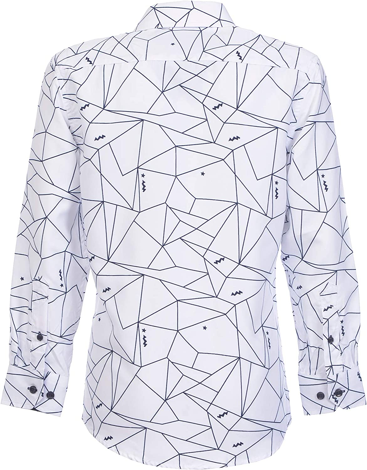 Suslo Couture Boys Button-Front Long-Sleeved Woven Shirt