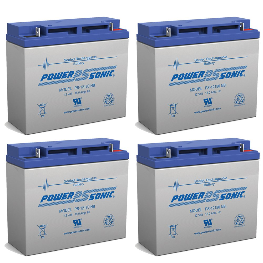 Powersonic 12V 18AH Battery Replaces Radio Communications Telemeter - 4 Pack