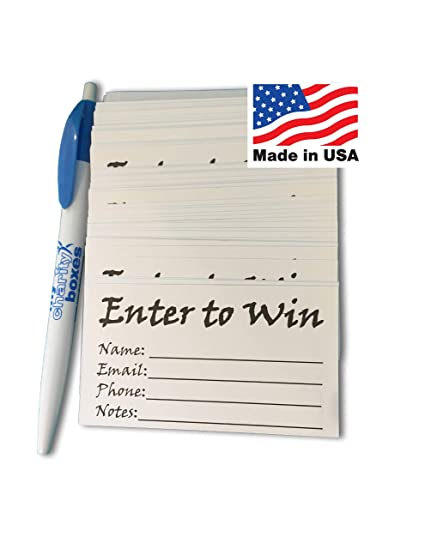 Amazon com : MCB Enter to Win Entry Form Cards for Contest