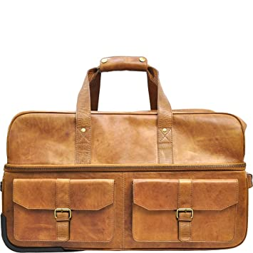 Amazon.com   Rawlings Wheeled Travel Duffle, Cognac   Suitcases c3651ae1eb