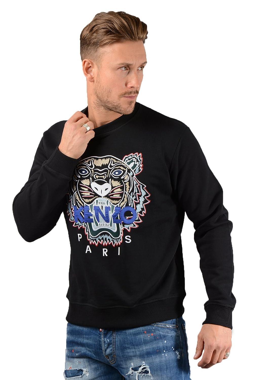 7ff514cc Kenzo- Mens SSW001 Tiger Sweatshirt in Black: Amazon.co.uk: Clothing
