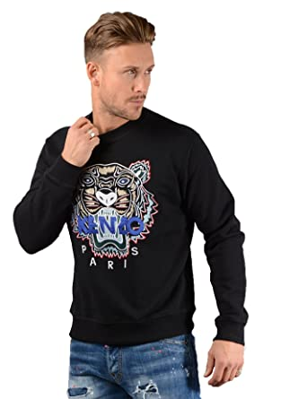 Kenzo- Mens SSW001 Tiger Sweatshirt in Black  Amazon.co.uk  Clothing 44efdc07cdc