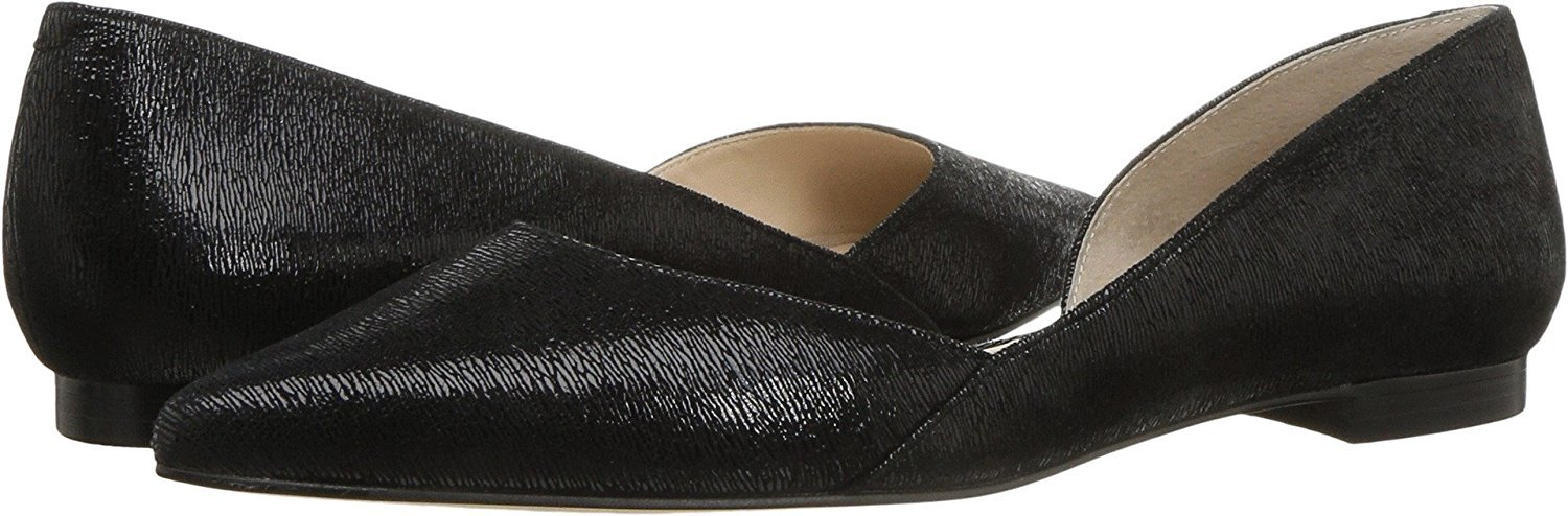 Marc Fisher LTD Women's Sunny4 Pointed Toe Flat, Black, Size 8.5