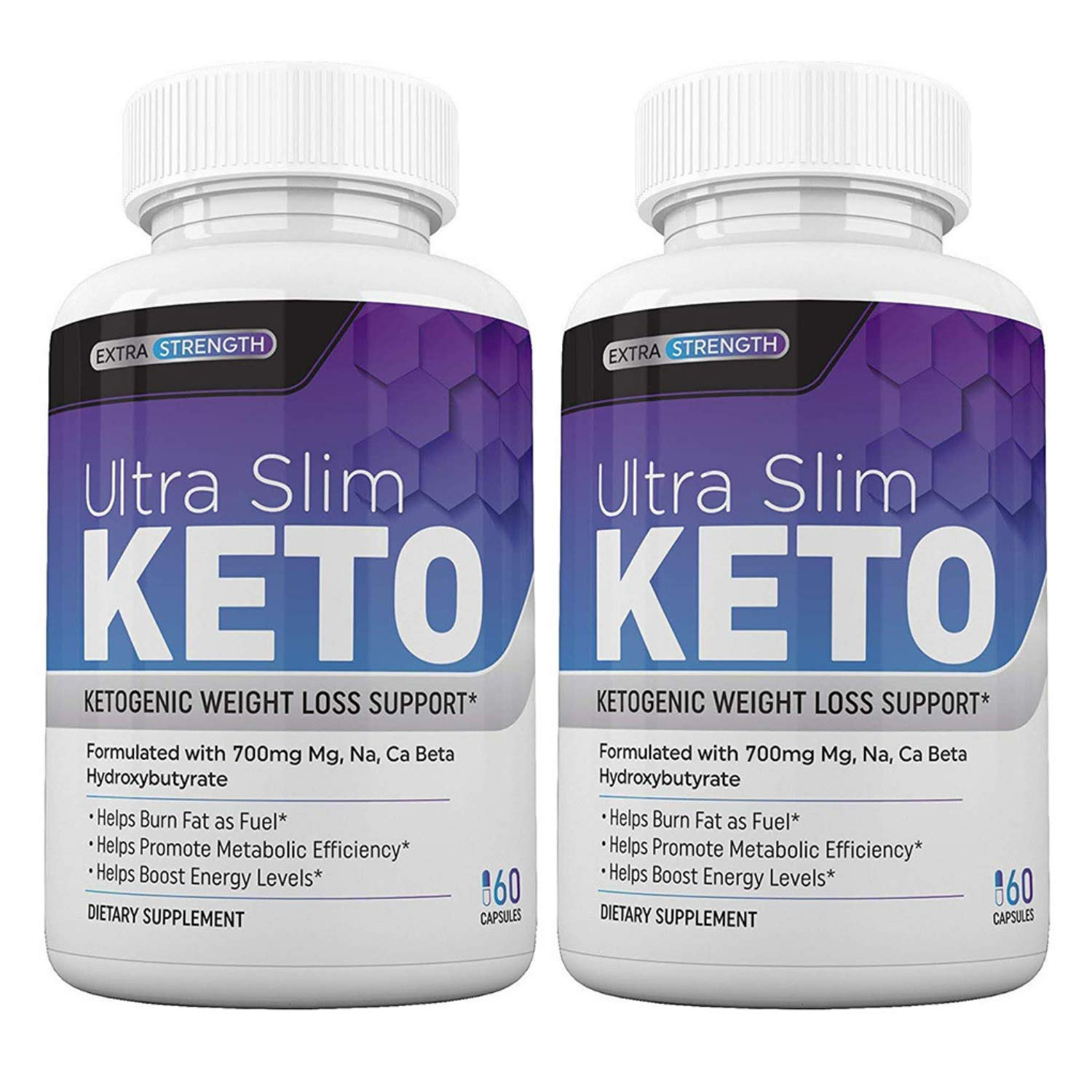 Ultra Slim Keto Natural Weight Loss Pills | Burn Fat Fast, Boost Energy and Metabolism | Keto Diet Exogenous Ketones Supplement for Men & Women (60 Capsules) (2) by AquaLock Essentials
