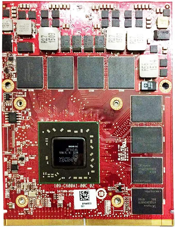 New 2GB Graphics Video Card Replacement, for Dell Precision M6700 M6600 M6800 Mobile Workstation Laptop, AMD FirePro M6100 GDDR5 MXM 3.0B VGA Board GPU Upgrade Repair Parts