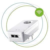 Devolo Magic 1 Wifi: starker Powerline-Erweiterungs Adapter mit WLAN-Funktion, bis 1200 Mbit/s Wifi AC, 2x Fast Ethernet LAN-Anschluss, integrierte Steckdose, Mesh WiFi, Access Point, weiß