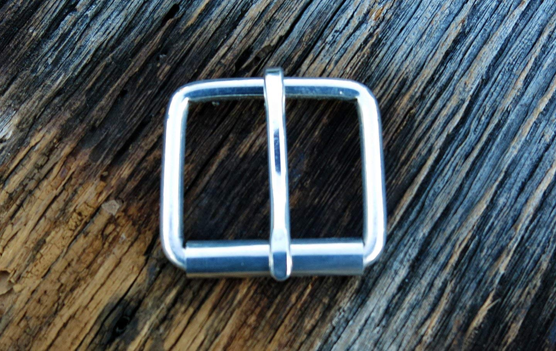 Sterling Silver Buckle - Solid Sterling Silver Belt Buckle - 1.5 1 1/2