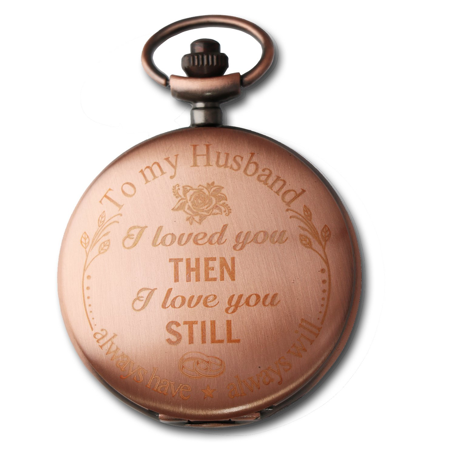 Mainbed Engraved Personalized Pocket Watch, Mens Pocket Watch Pocket Watch To Husband Gift From Wife To Husband by Mainbed