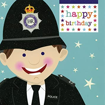 Aliroo All Dressed Up Policeman Happy Birthday Card Code ADU103 Amazoncouk Office Products