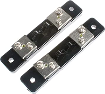 FL-2 50A 75MV DC Panel de resistencia de derivaci/ón de corriente para medidor de amperios digital Clase de amper/ímetro 0.5 Resistencia de derivaci/ón de corriente Negro