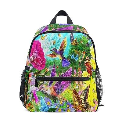 Hummingbird Floral Butterfly Mini Kids All-in-One Pre-School Backpacks for Kindergarten Toddler Boy Girls | Kids' Backpacks
