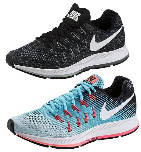 amazon Nike Zoom Pegasus 33 Frauen Schuhe SchwarzWeißLava
