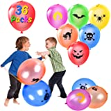Halloween Punch Balloons for Kids - 36 PCS Neon Punching Balloons with Rubber Band Handles, Suitable for Children Gifts…