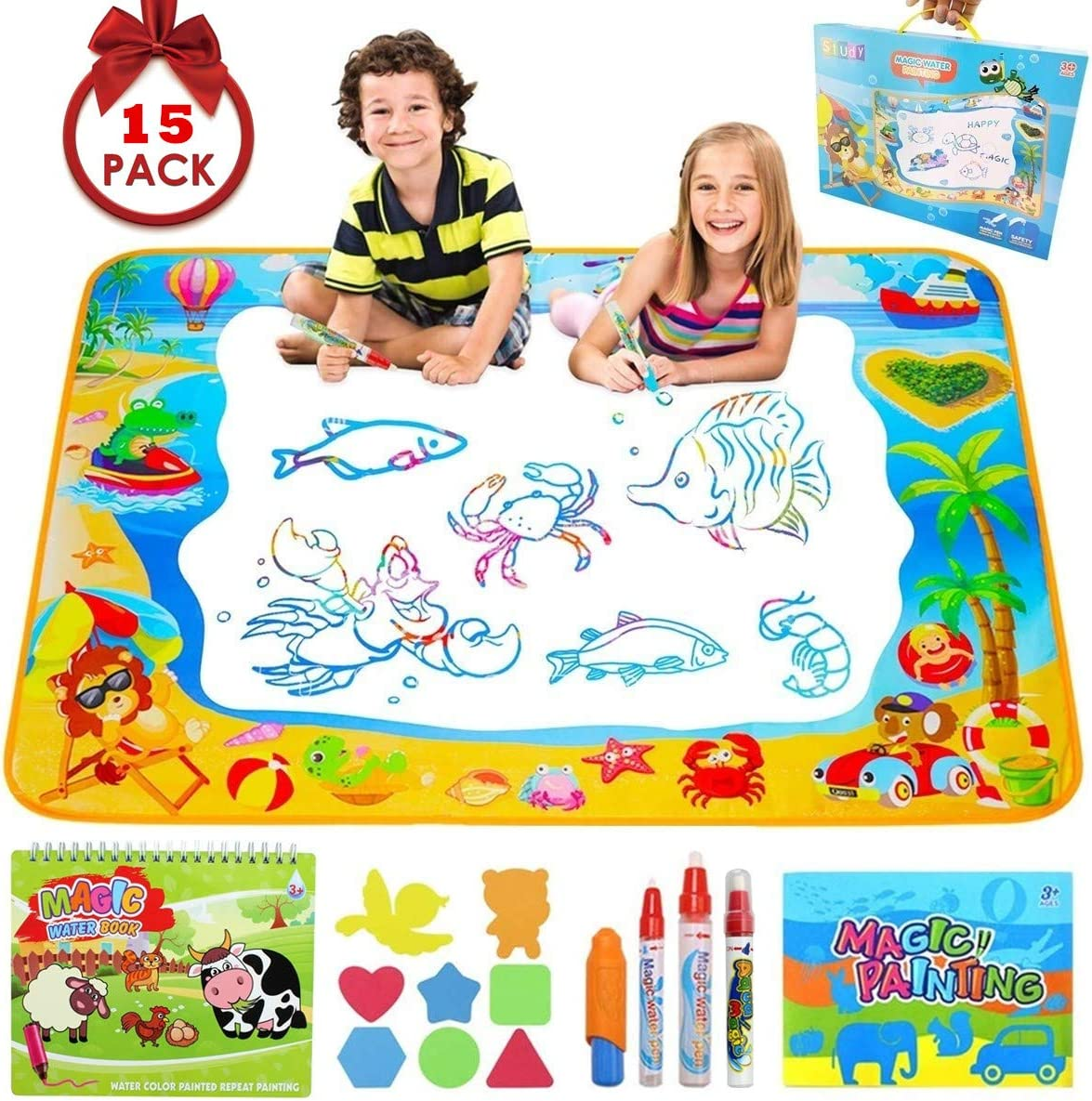 AOLUXLM Aqua Mat Kids Large Water Doodle Mat Water Drawing