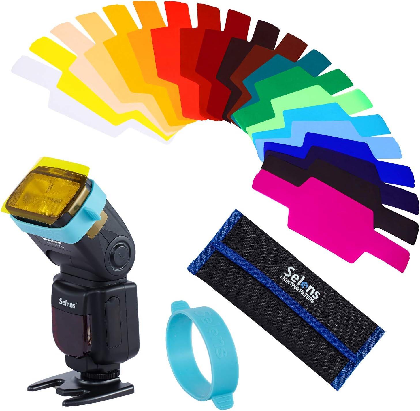 Filtros para Flash de Cámara (20 colores) Canon, Nikon, Sony