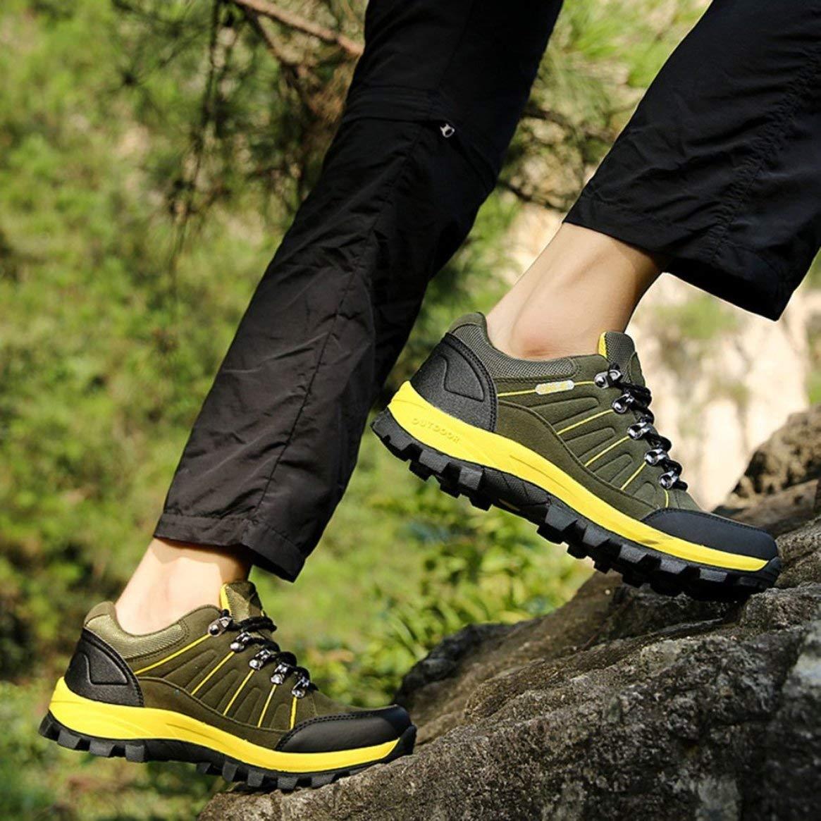 611cadd2a ... Zapatos de Excursionismo al Aire Libre Botas Botas Botas de montañismo  Impermeables Hombre con Cordones Calzado