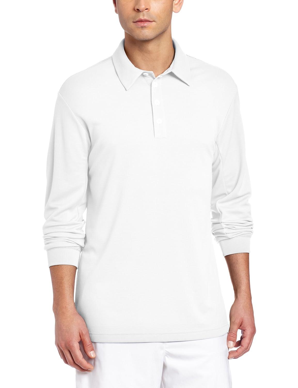 adidas Golf Mens Climalite Long Sleeve Stretch Pique Polo Shirt ...